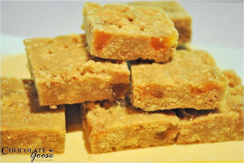 apricot fudge slice