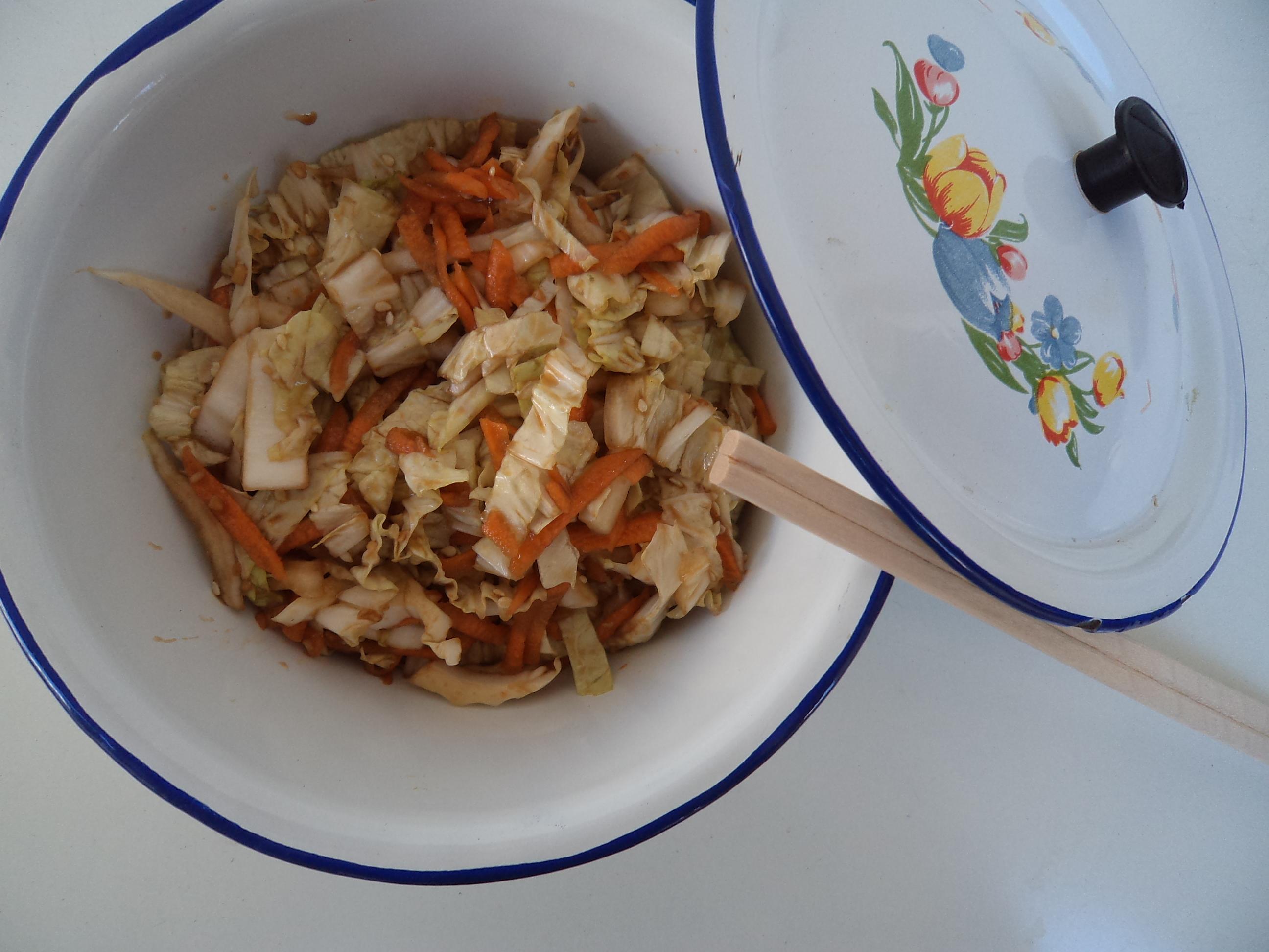 Salada de acelga numa vibe oriental e a primavera professora de Cecília