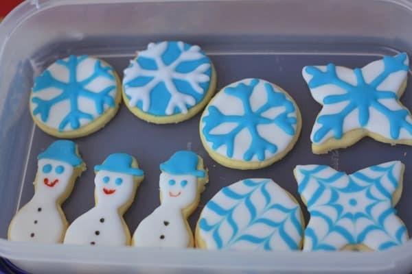 Snowflake & Snowmen Cookies