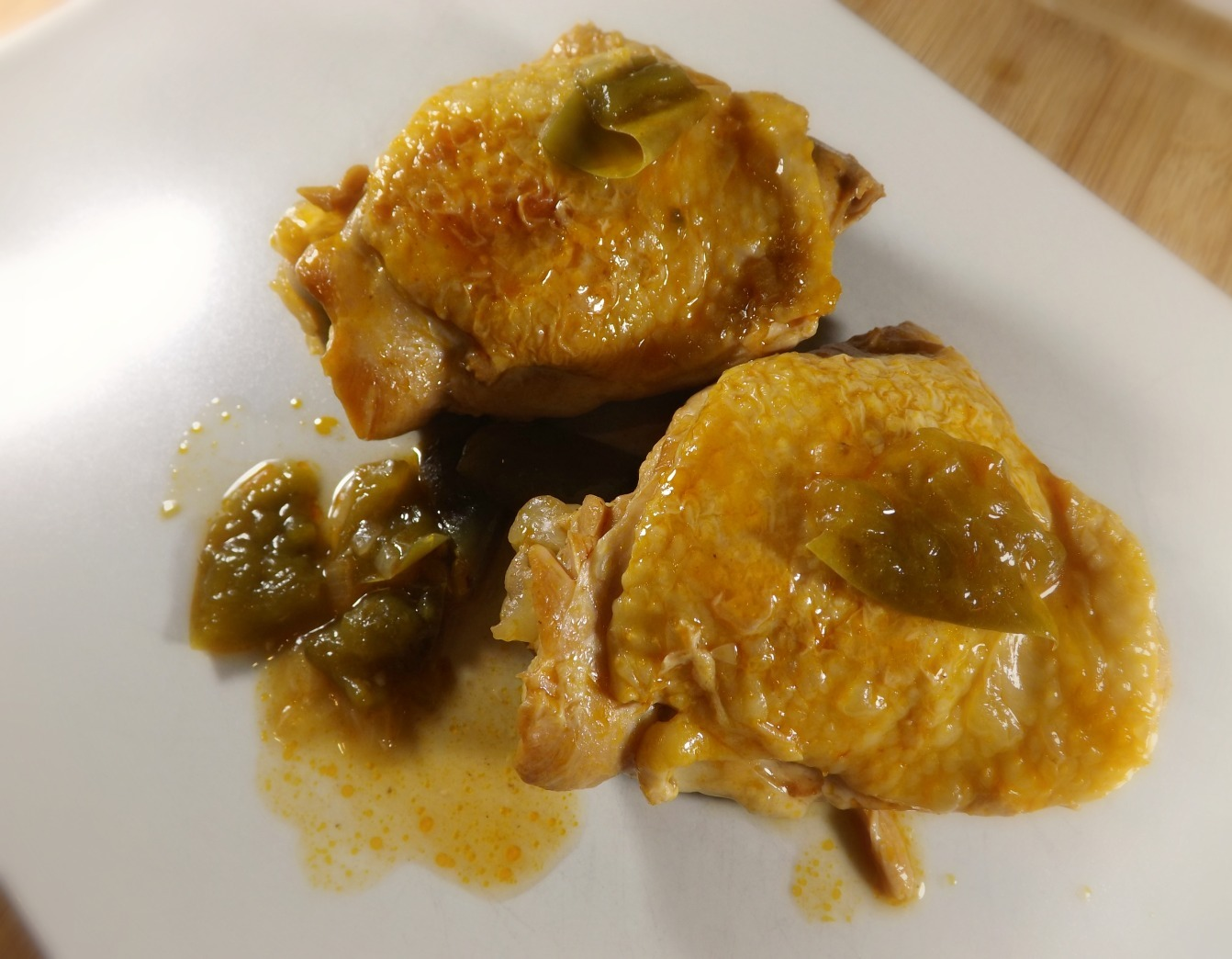 Poulet Poivron et Huile Citron
