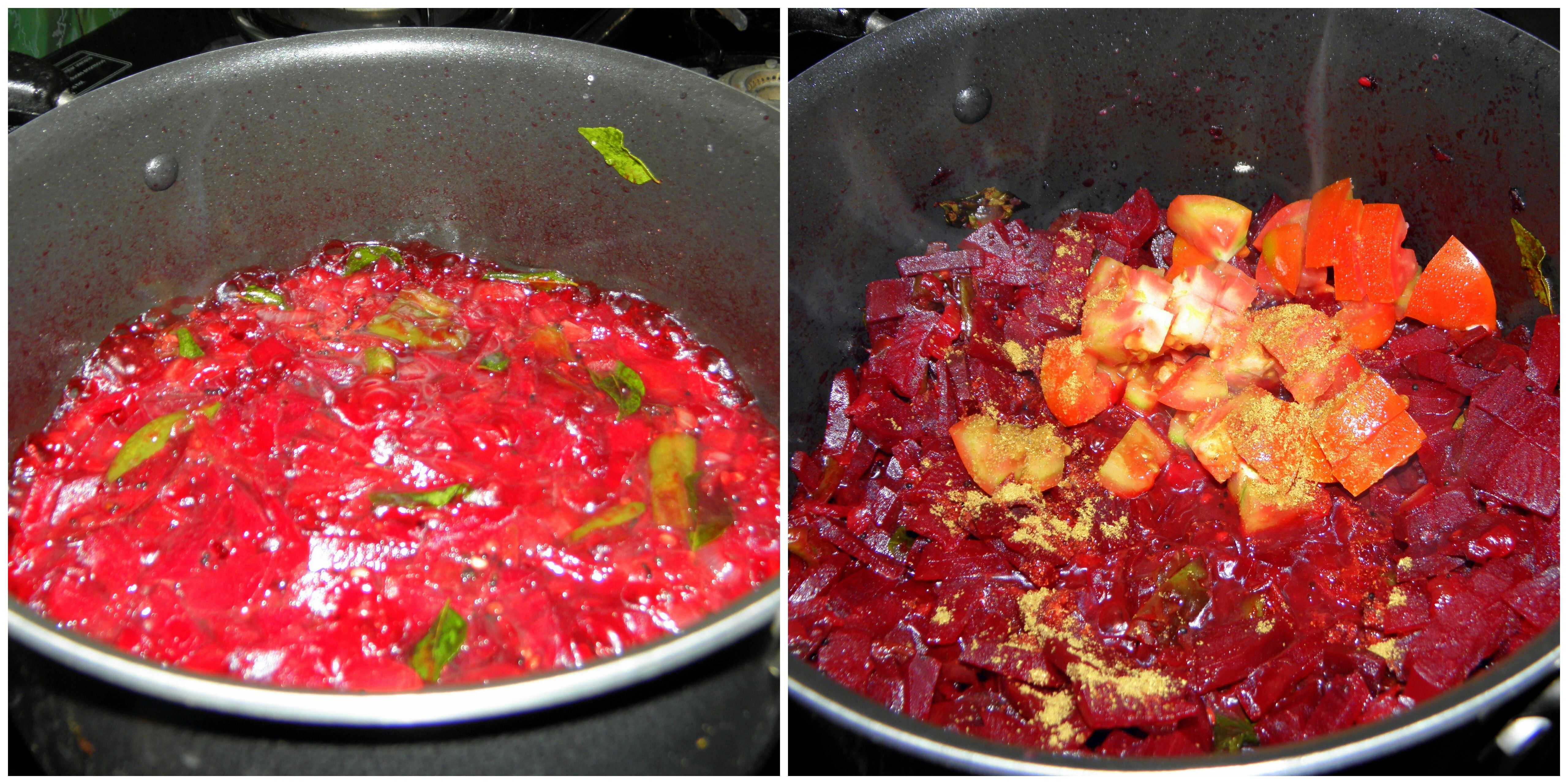 Beetroot Palya | Beetroot dry side-dish for Rice or Roti