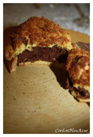 Choux à la crème pralinée et à la mousse au chocolat