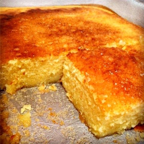 bolo de milho verde cremoso com leite de coco