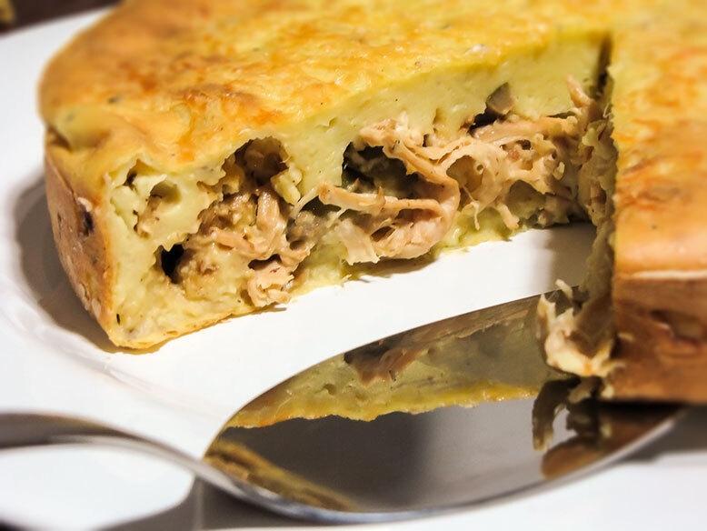 Torta de frango com batatas do Cozinha Travessa