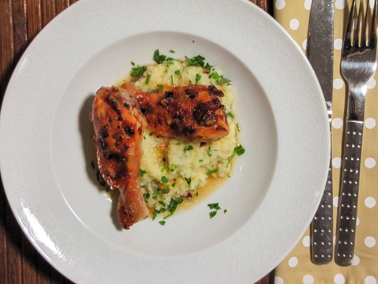 Receita de frango com geleia damasco e cuscuz marroquino