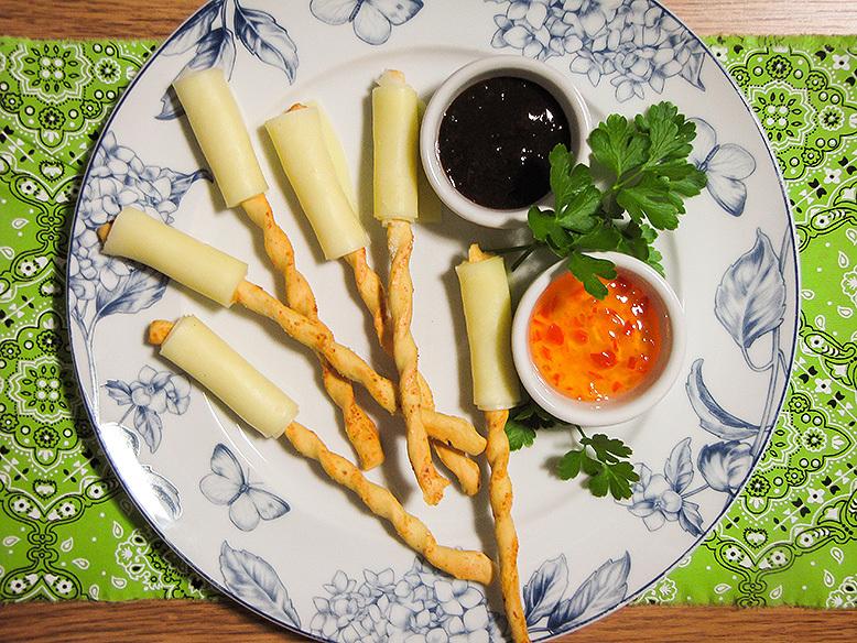 Receita dica de palitinhos salgados com queijo e geleias