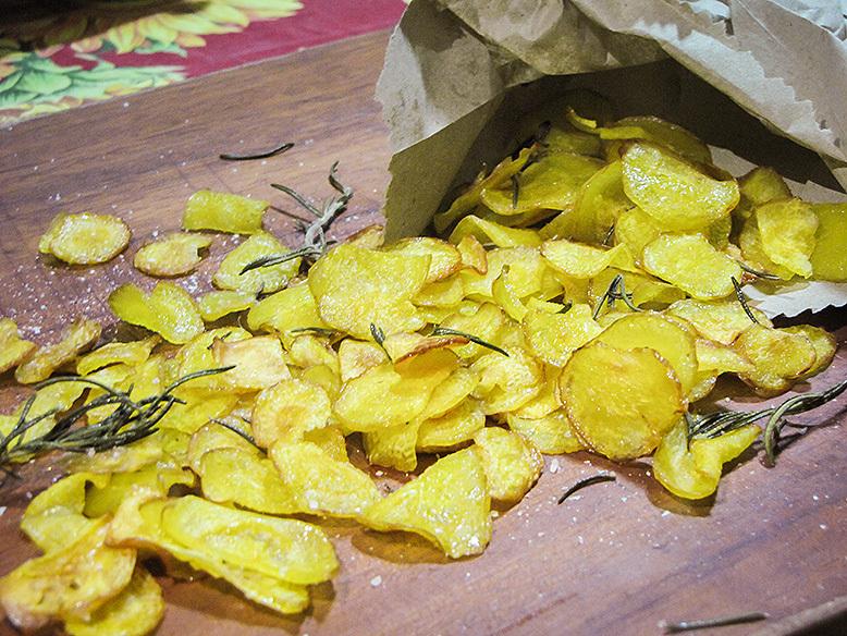 Receita de chips de mandioquinha