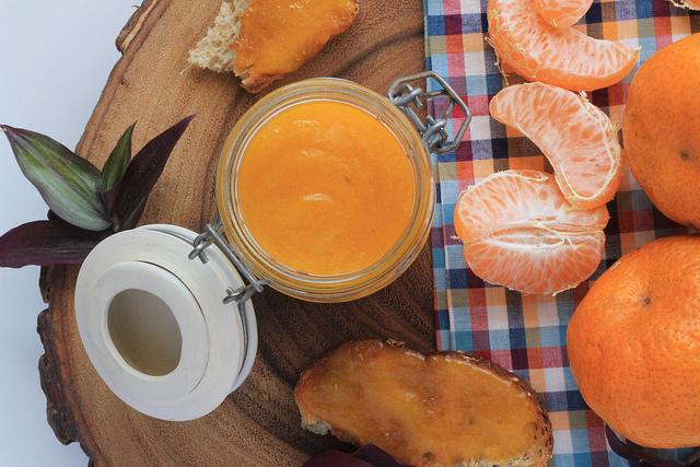 Cremosa geléia de laranja kinkan