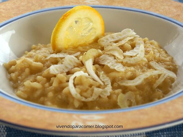 Risoto de erva doce e limão siciliano