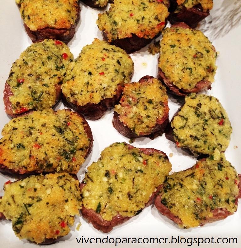 Filé Mignon com crosta de ervas