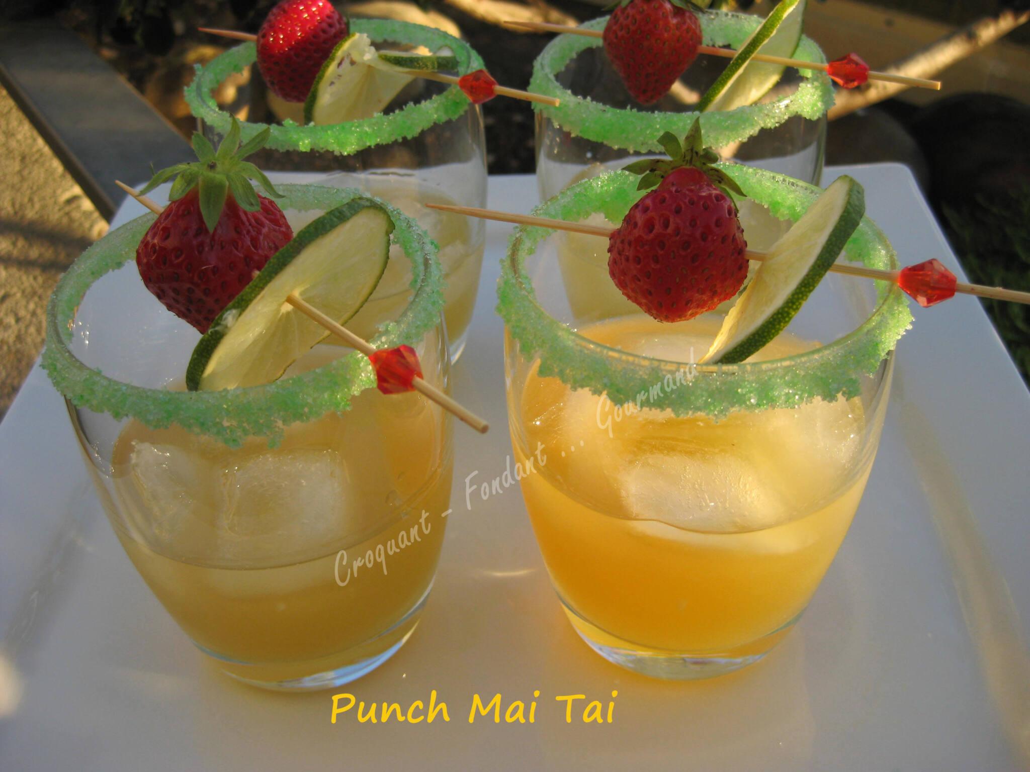 Punch Mai Tai à ma façon.