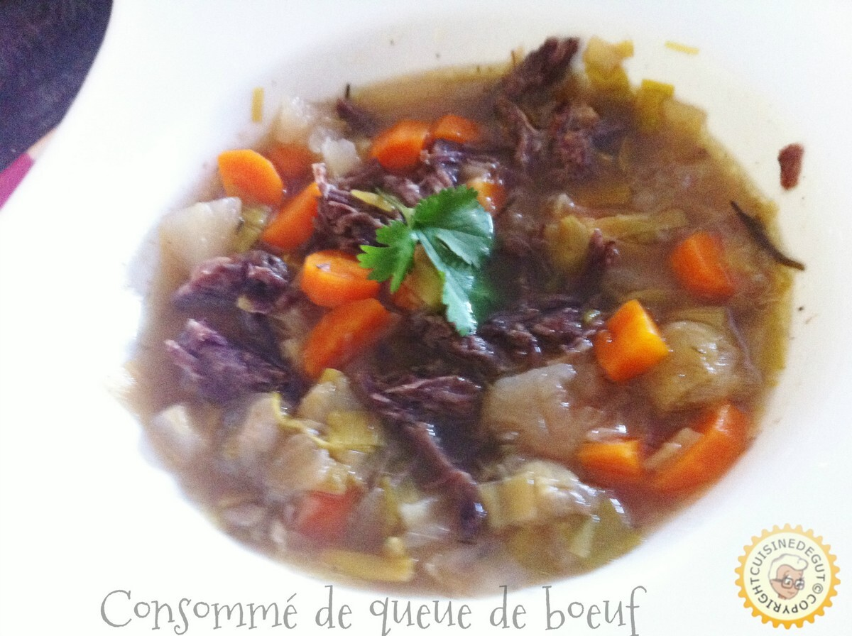 Consommé de queue de boeuf