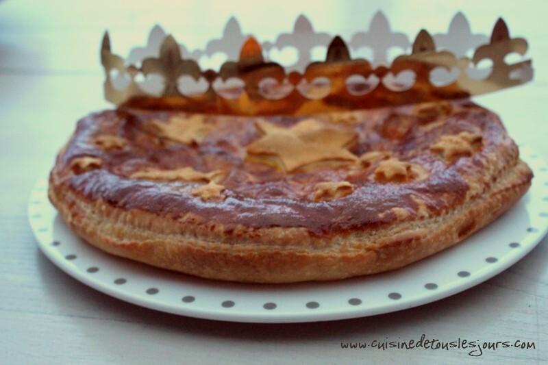 Le goûter du dimanche : Galette des rois à la pomme caramélisée et crème de marrons