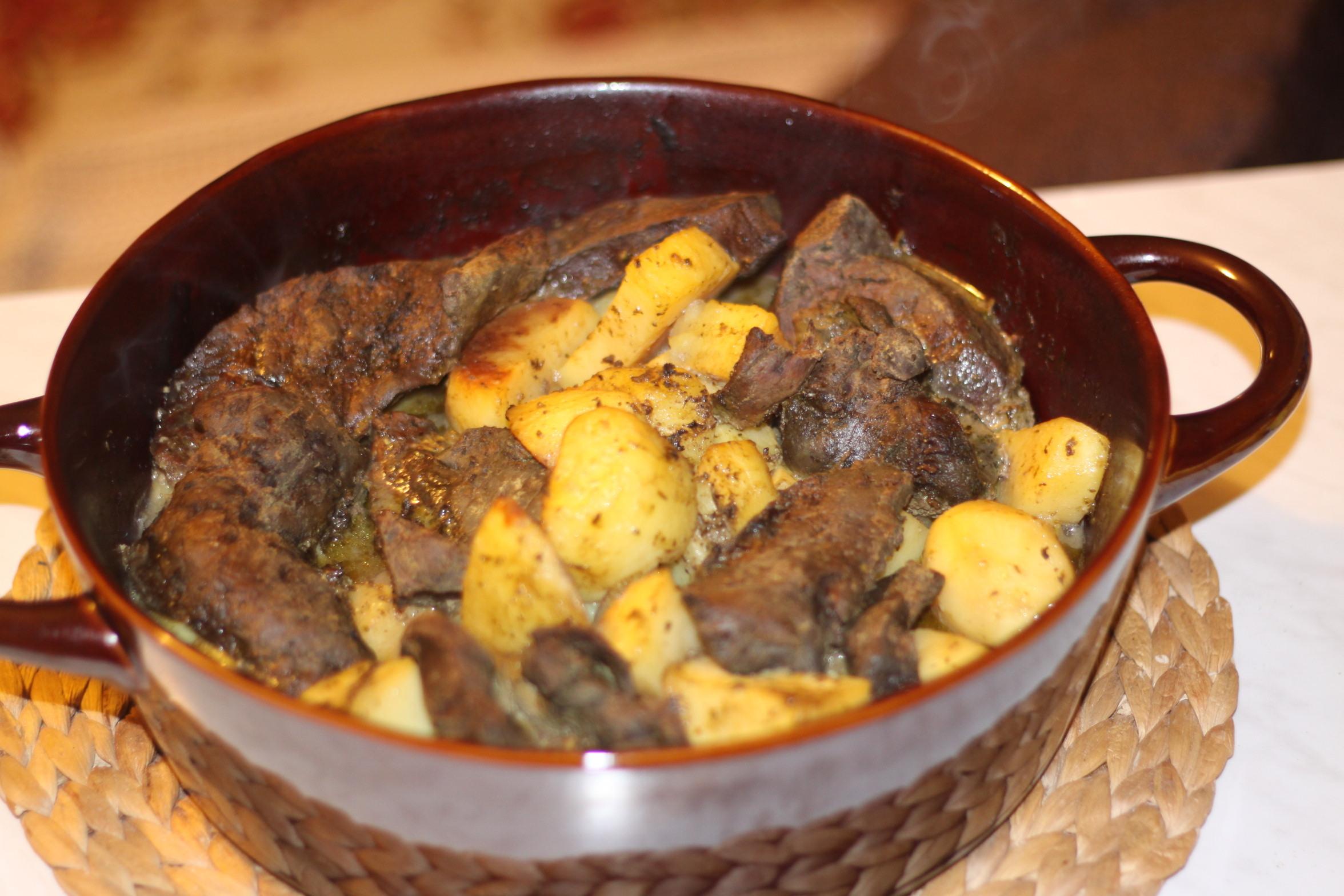 Recette : Foie de veau aux pommes de terre et aux châtaignes