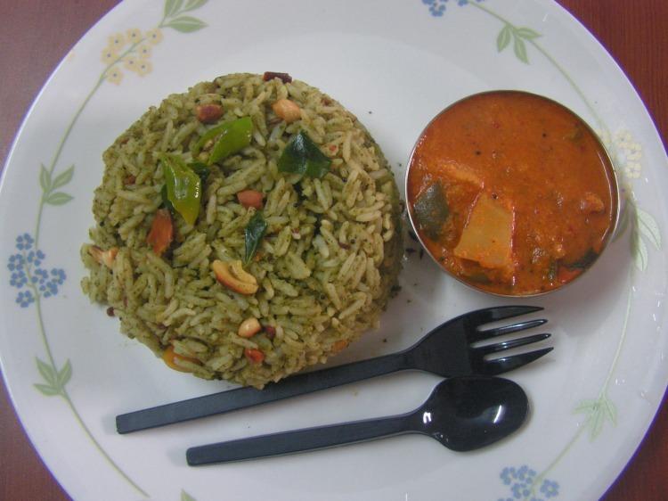 Curry leaves rice(karibevina chithranna)