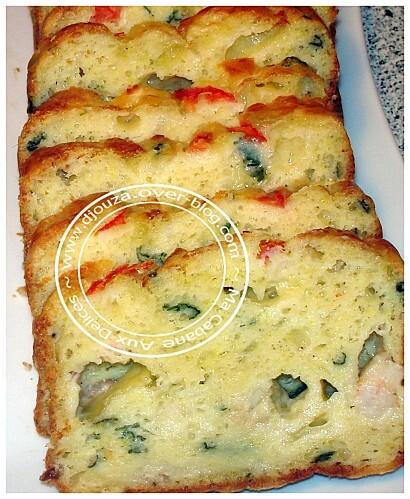 Cake salé saumon crevette