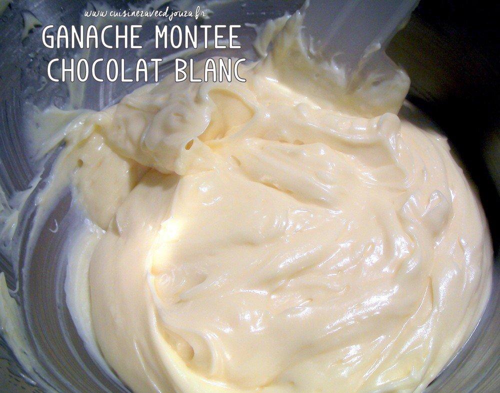 Ganache montée au chocolat blanc {macarons}