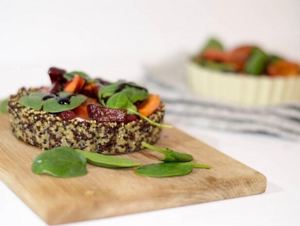 Tartaletky z quinoy s peÄŤenou zeleninou a cottage cheesom