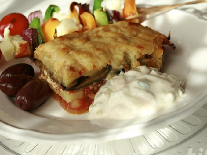 Grécka musaka na vegetariánsky spôsob