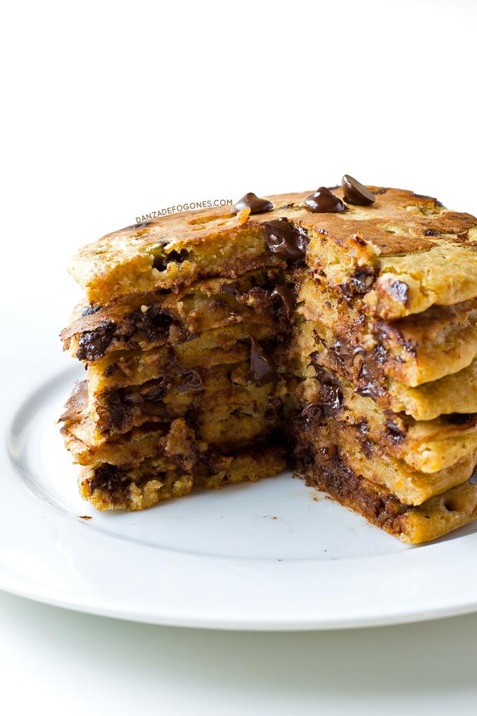 Tortitas de calabaza y chocolate
