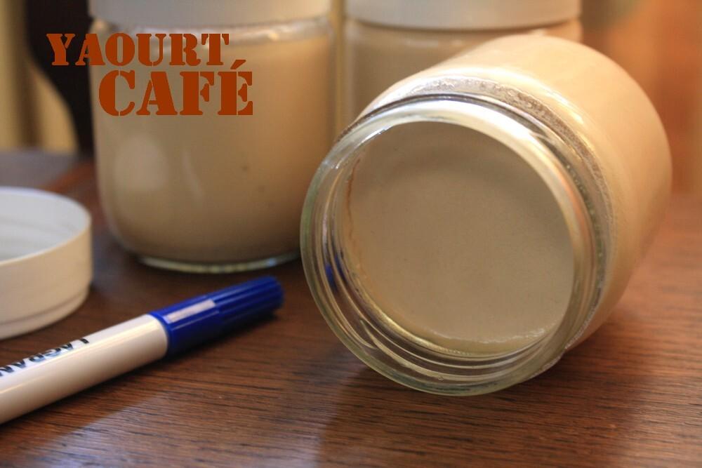 Yaourts maison au café