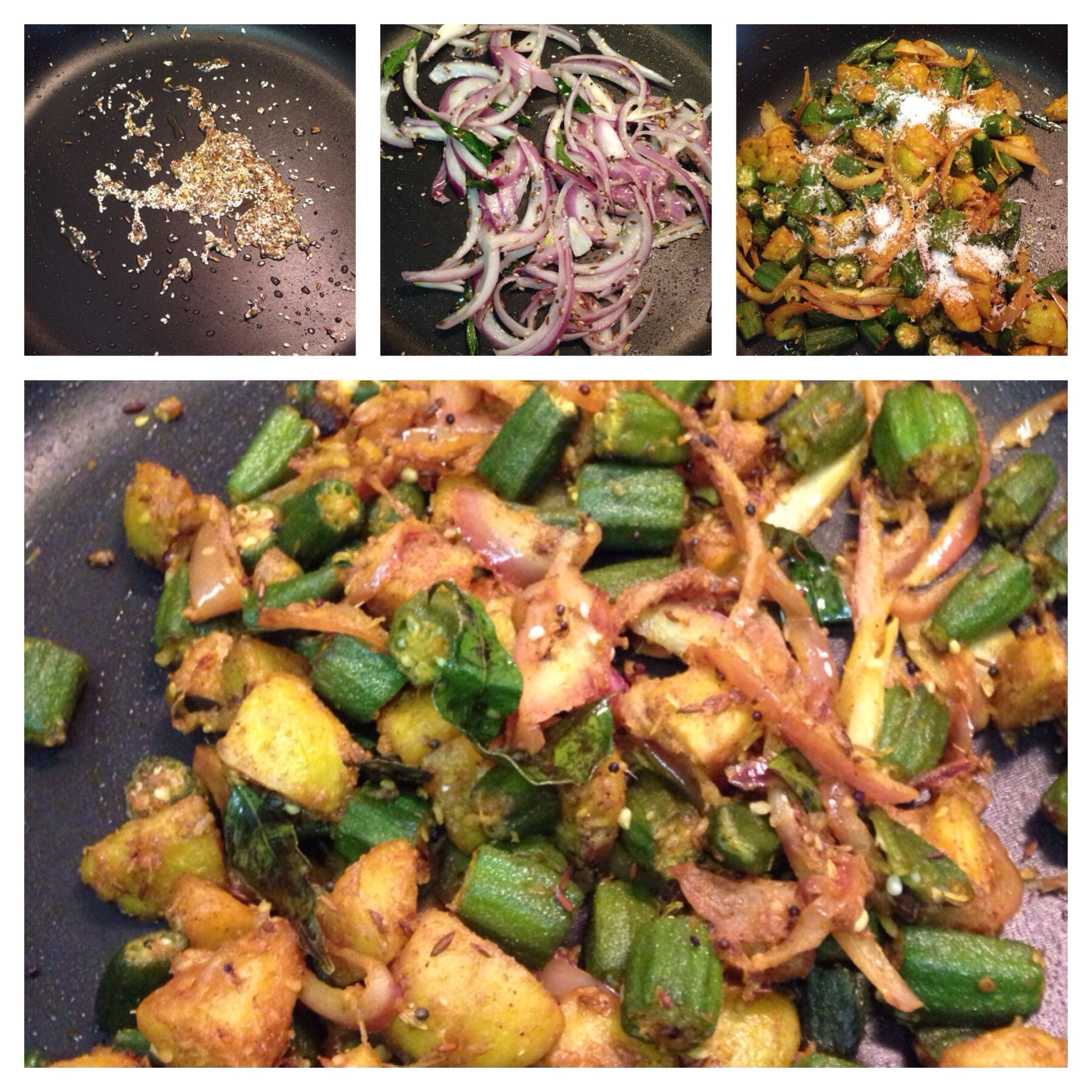 Sesame Bhindi Aloo – (Okra & Potato)