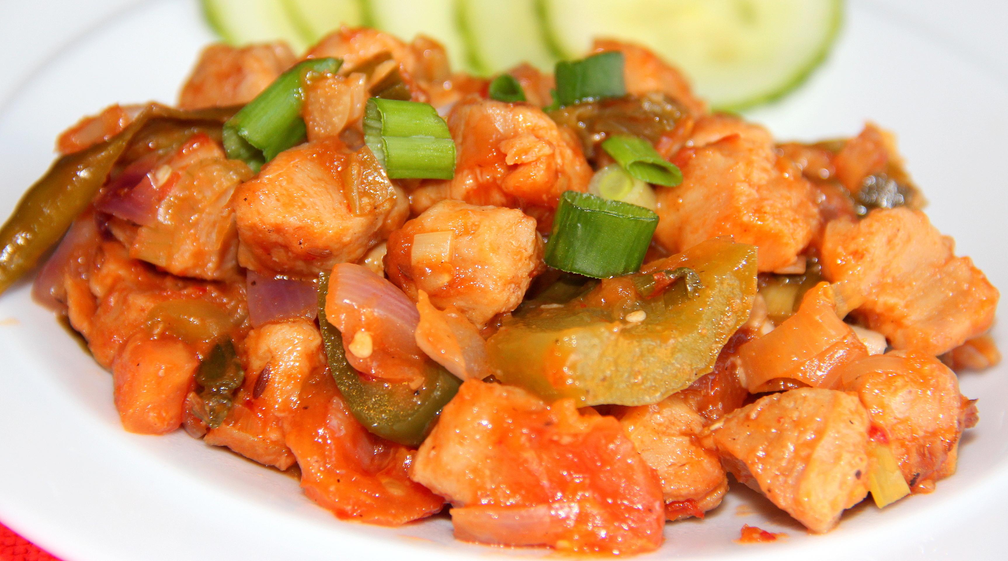 Spicy Kadai soya – Vegan: (Indo-Chinese Cuisine)