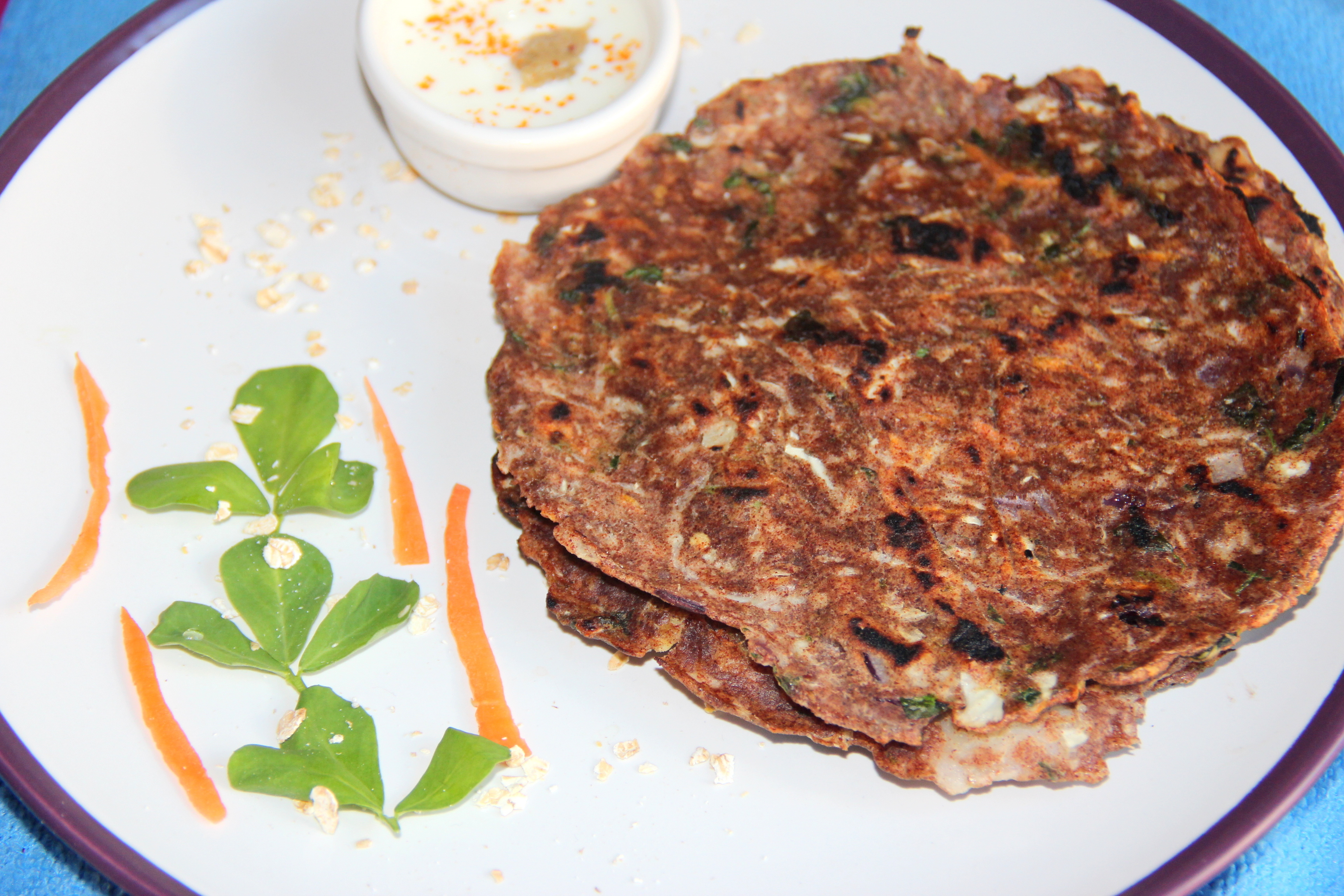 Ragi oats masala roti (Finger Millet Spicy Indian Bread):