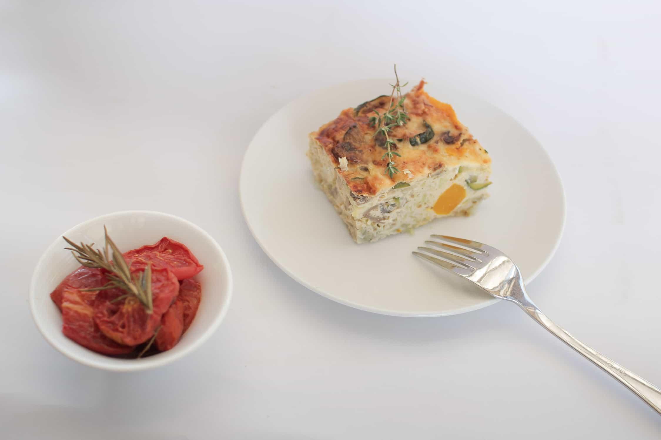 Roast pumpkin, feta and kumara frittata recipe