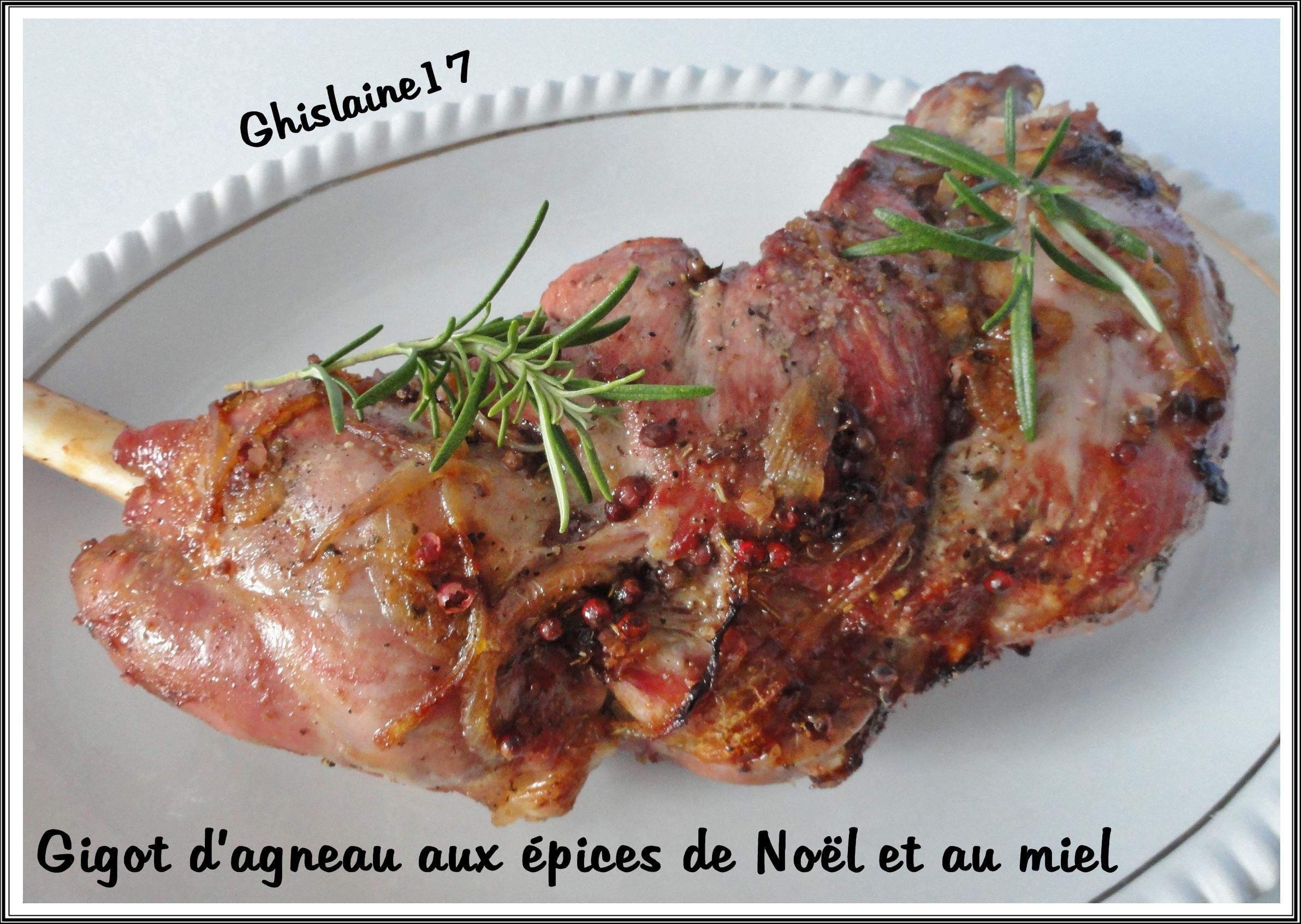 Gigot d'agneau aux épices de Noël et au miel