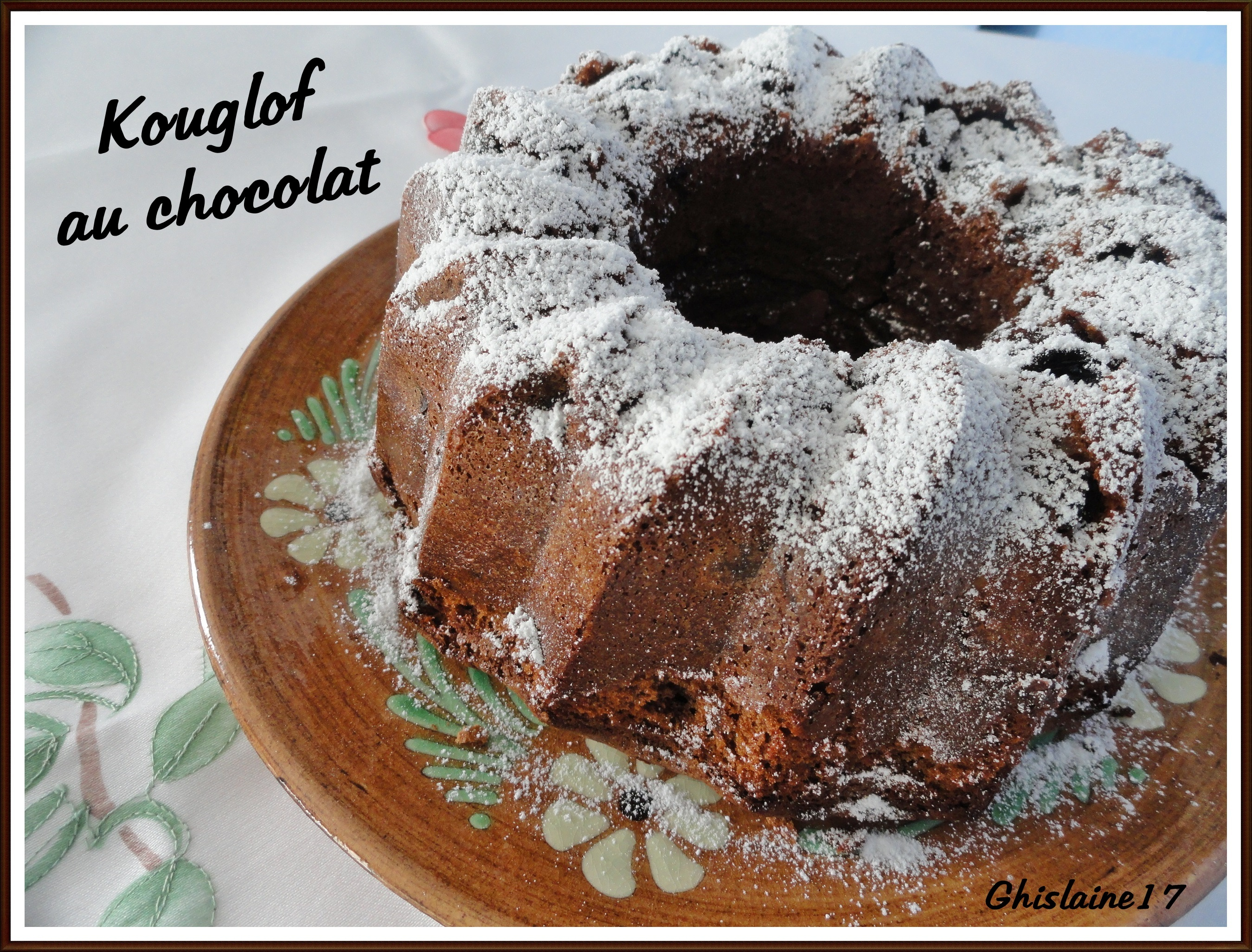 Kouglof au chocolat de L. Mariotte