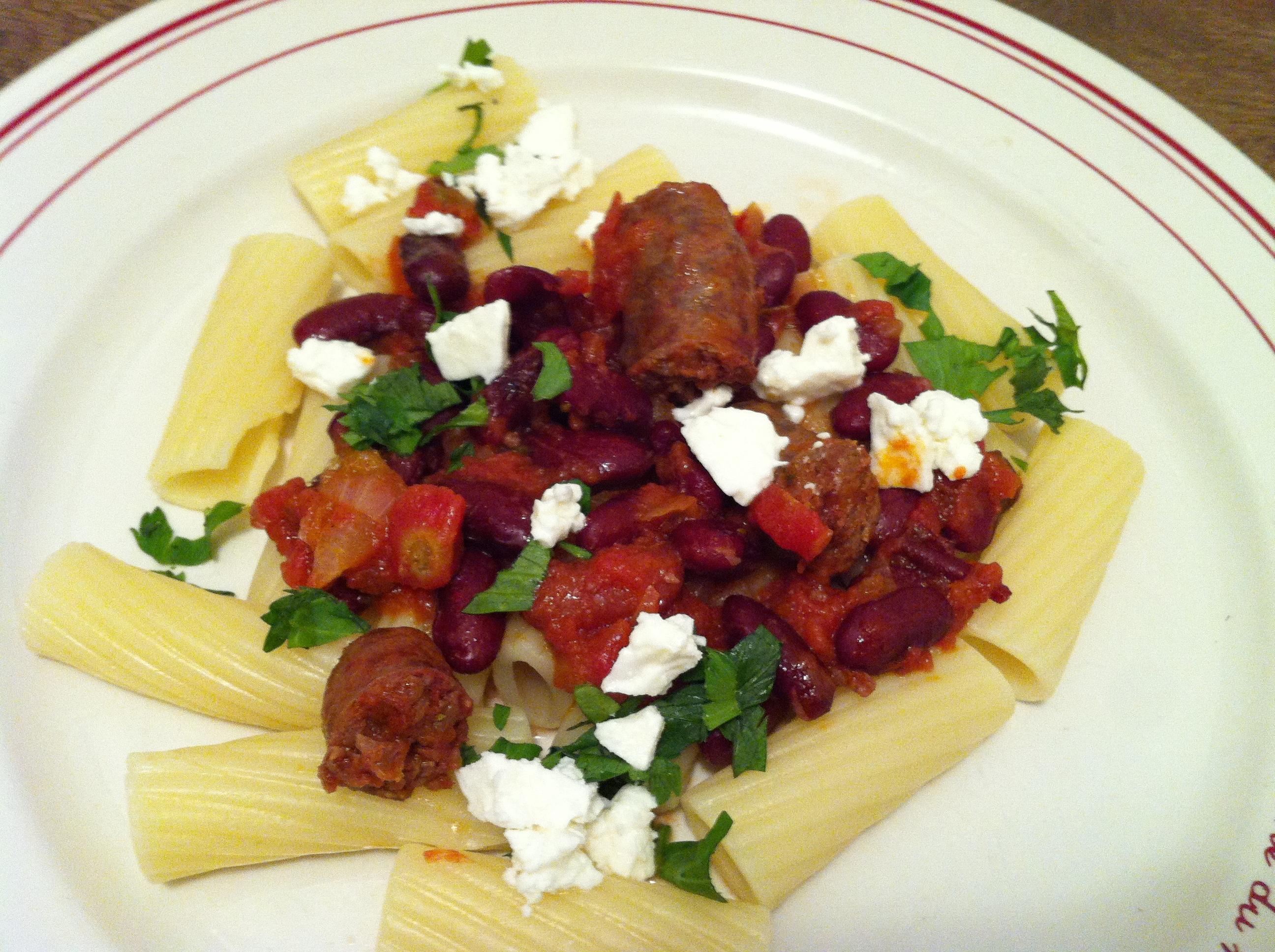 Rigatoni à la saucisse italienne épicée