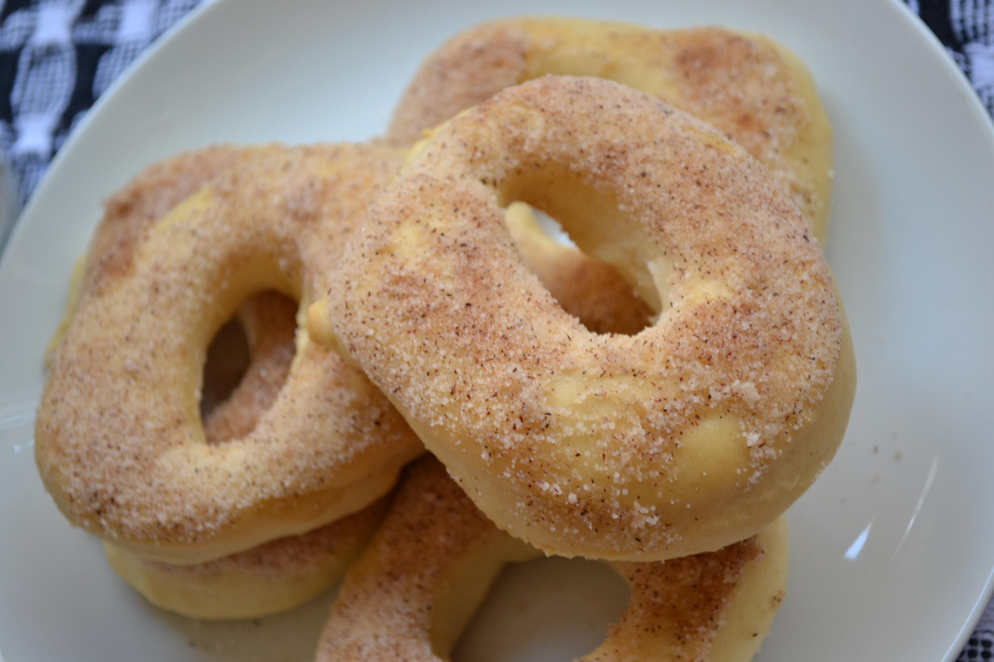 Doughnuts assados