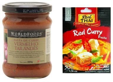 Frango ao curry vermelho
