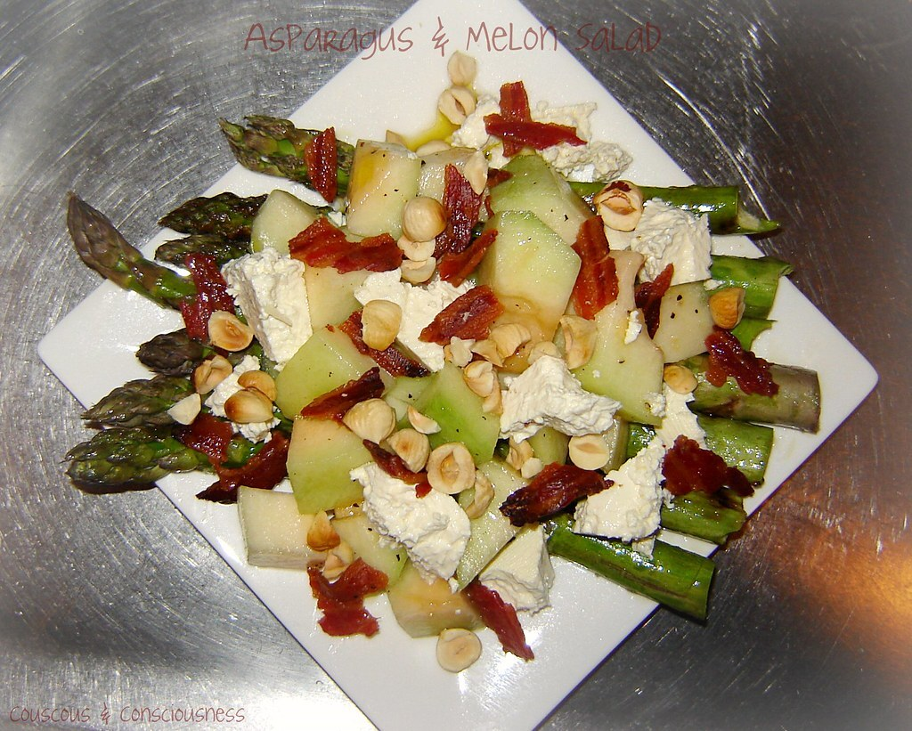 Grilled Asparagus & Rock Melon Salad - Quick & Easy # 6