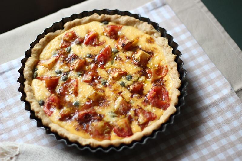 Tarte de tomate e gruyere / Tomato gruyere tart