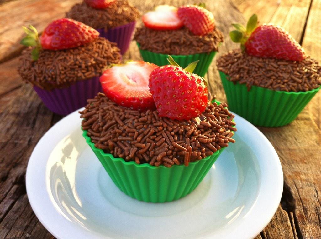 Cupcake de Chocolate e Doce de Leite...