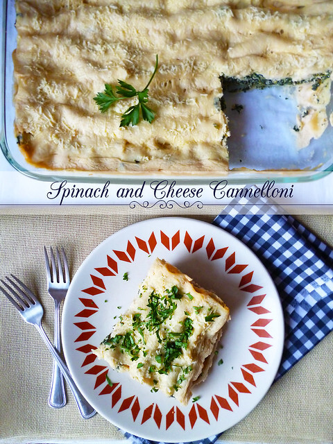 Spinach and Cheese Cannelloni