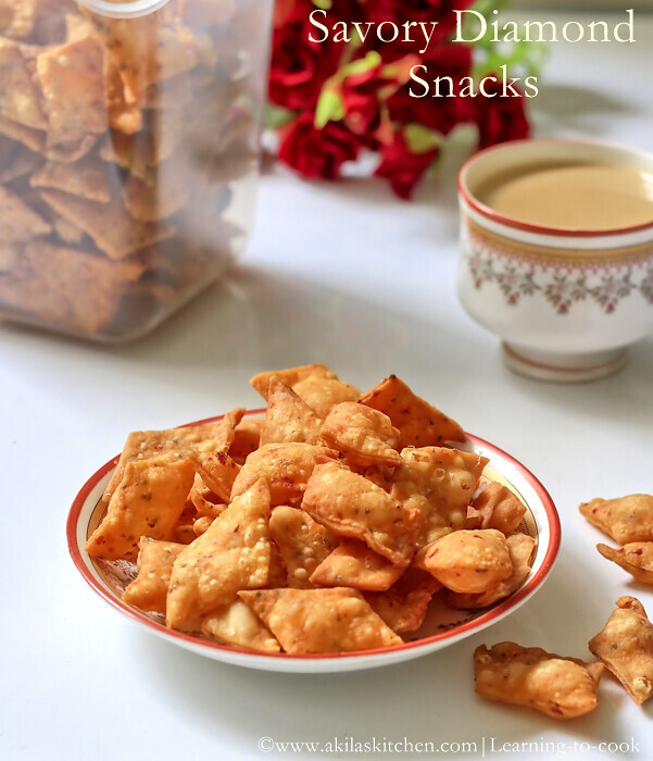 SAVORY DIAMOND CUTS | DIAMOND BISCUITS | MAIDA BISCUITS | KHARA MAIDA BISCUITS | DIWALI SNACKS