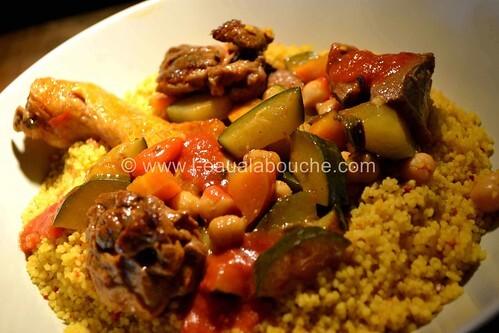 Couscous à l'Agneau & au Poulet-Courgettes & Pois Chiche