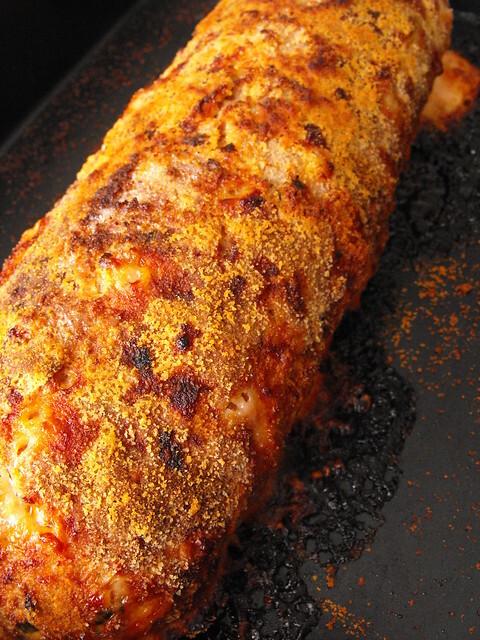 Rolo de carne com queijo e presunto !