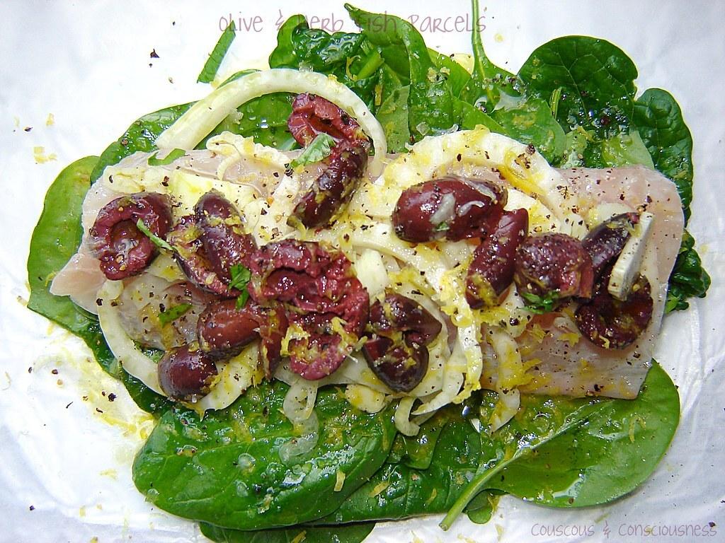 Olive & Herb Fish Parcels