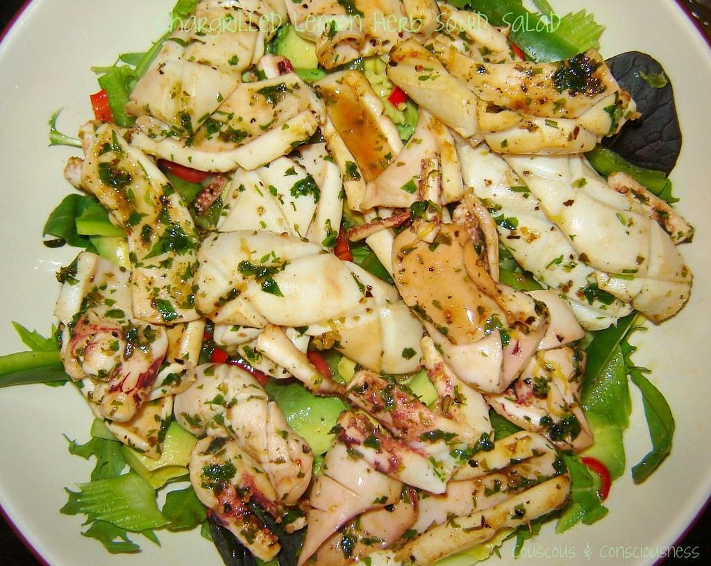 Chargrilled Lemon Herb Squid Salad