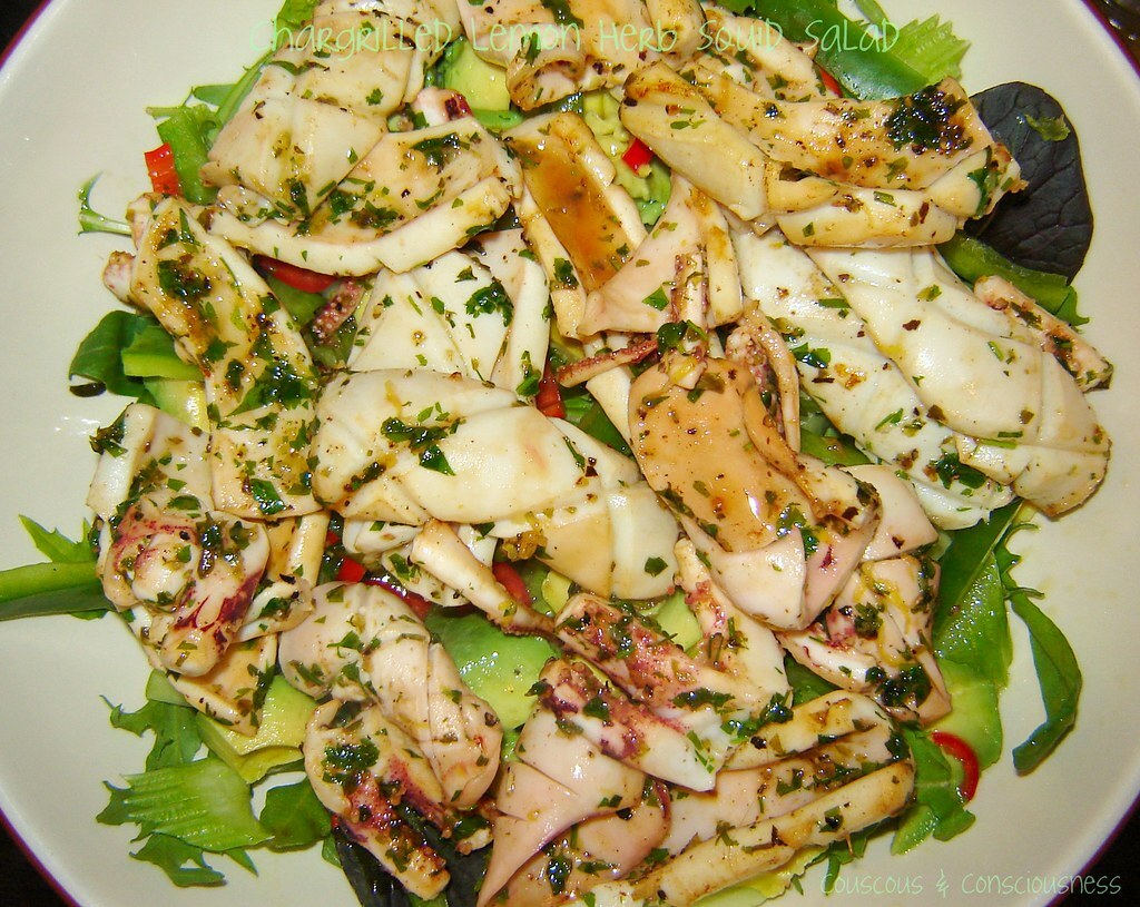 Chargrilled Lemon Herb Squid Salad