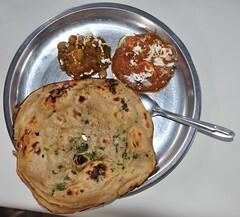 cheese paneer paratha