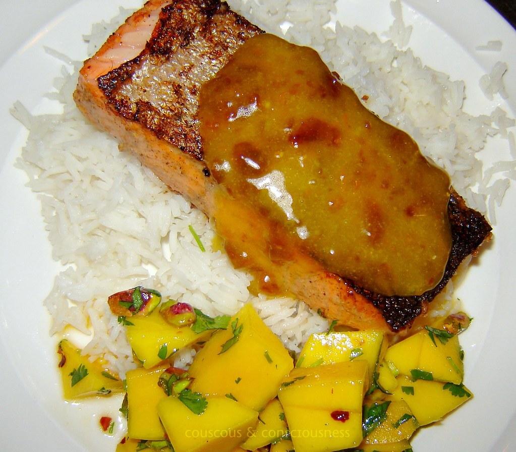 Tandoori Salmon with Orange Date Mayonnaise Recipe