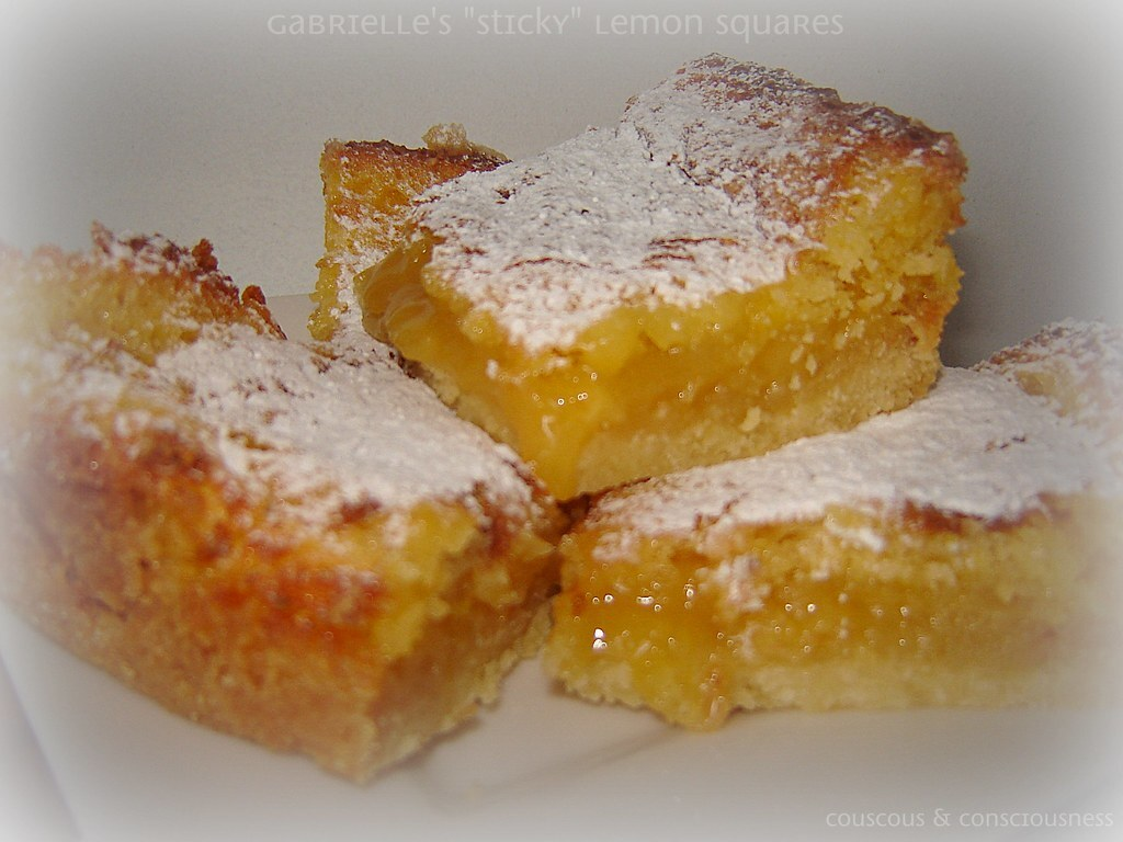 "Gabrielle's ""Sticky"" Lemon Squares Recipe"