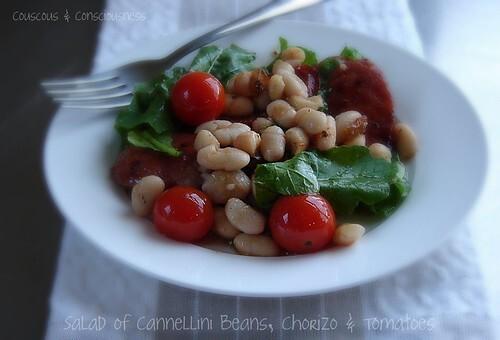 Salad of Cannellini Beans, Chorizo & Tomatoes