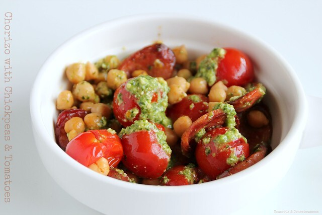 Chorizo with Chickpeas & Tomatoes