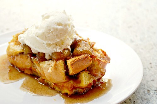 Bananas Foster French Toast Bread Pudding